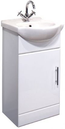 High Gloss White 450mm Basin Unit
